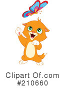 Royalty-Free (RF) Kitten Clipart Illustration #210660