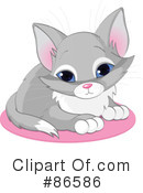 Royalty-Free (RF) Kitten Clipart Illustration #86586