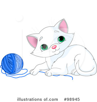 Royalty-Free (RF) Kitten Clipart Illustration by Pushkin - Stock Sample #98945