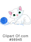 Royalty-Free (RF) Kitten Clipart Illustration #98945