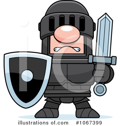 Knight Clipart #1067399 by Cory Thoman