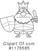 Knight Clipart #1176585 by Cory Thoman