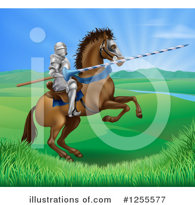 Jousting Clipart #1255577 by AtStockIllustration