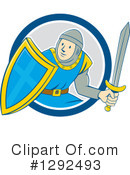 Royalty-Free (RF) Knight Clipart Illustration #1292493