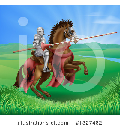 Jousting Clipart #1327482 by AtStockIllustration