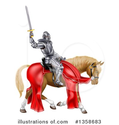 Knight Clipart #1358683 by AtStockIllustration