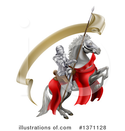 Jousting Clipart #1371128 by AtStockIllustration