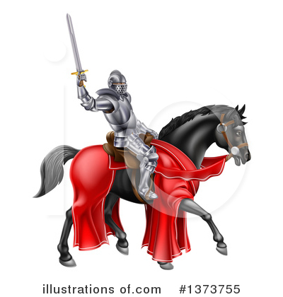 Knight Clipart #1373755 by AtStockIllustration