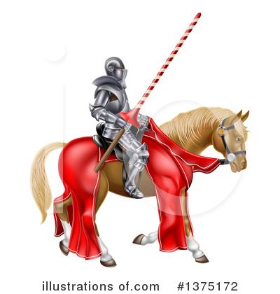 Jousting Clipart #1375172 by AtStockIllustration