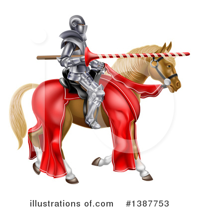 Jousting Clipart #1387753 by AtStockIllustration