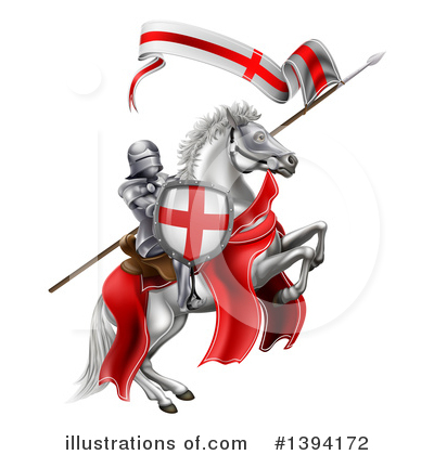 Jousting Clipart #1394172 by AtStockIllustration