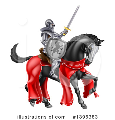 Knight Clipart #1396383 by AtStockIllustration