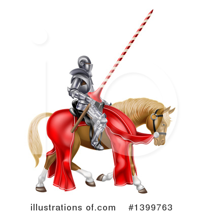 Jousting Clipart #1399763 by AtStockIllustration