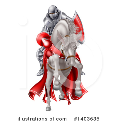 Knight Clipart #1403635 by AtStockIllustration