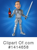 Knight Clipart #1414658 by Julos