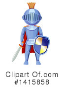 Royalty-Free (RF) Knight Clipart Illustration #1415858
