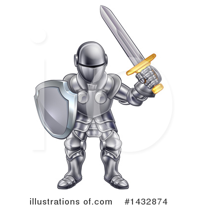 Knight Clipart #1432874 by AtStockIllustration