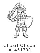 Knight Clipart #1461730 by AtStockIllustration