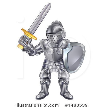 Knight Clipart #1480539 by AtStockIllustration