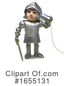 Knight Clipart #1655131 by Steve Young