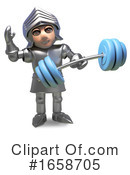 Knight Clipart #1658705 by Steve Young