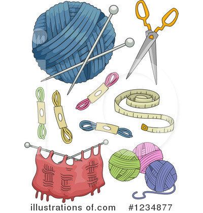 Knitting Clipart #1234877 by BNP Design Studio