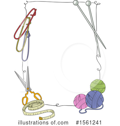 Royalty-Free (RF) Knitting Clipart Illustration by BNP Design Studio - Stock Sample #1561241