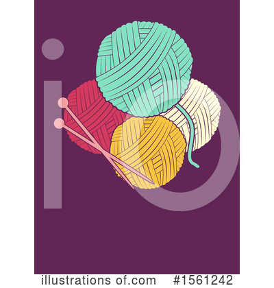 Knitting Clipart #1561242 by BNP Design Studio