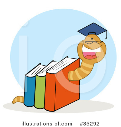 Book Worm Clipart #35292 by Hit Toon