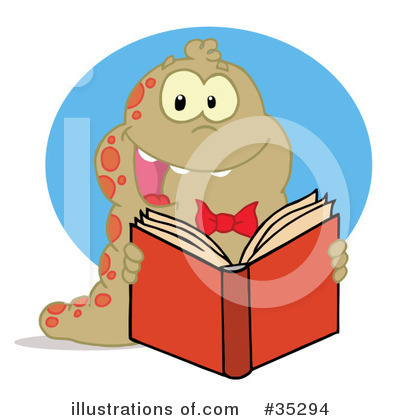 Book Worm Clipart #35294 by Hit Toon