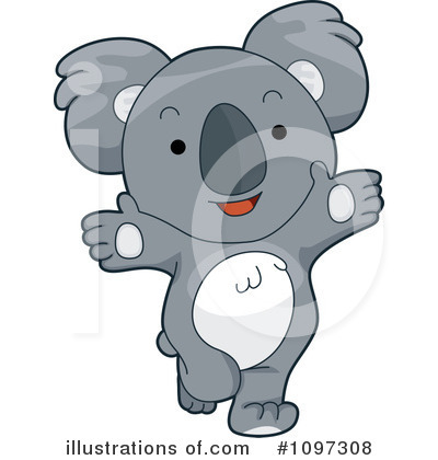 Koala Clipart #1097308 by BNP Design Studio