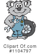 Royalty-Free (RF) koala Clipart Illustration #1104797