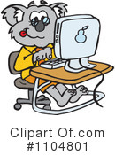 Royalty-Free (RF) Koala Clipart Illustration #1104801