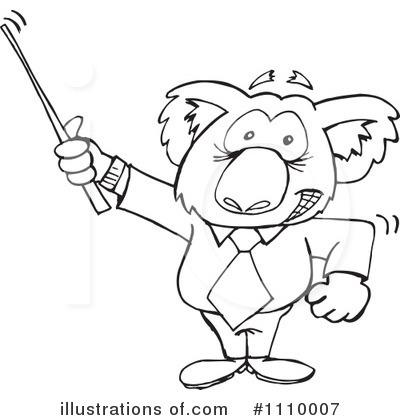 Royalty-Free (RF) Koala Clipart Illustration by Dennis Holmes Designs - Stock Sample #1110007