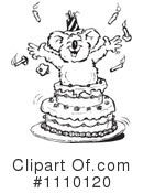 Royalty-Free (RF) koala Clipart Illustration #1110120