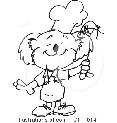 Royalty-Free (RF) Koala Clipart Illustration by Dennis Holmes Designs - Stock Sample #1110141