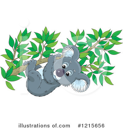 Koala Clipart #1215656 by Alex Bannykh