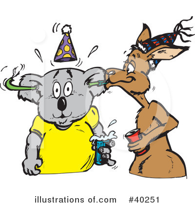 Kangaroo Clipart #40251 by Dennis Holmes Designs