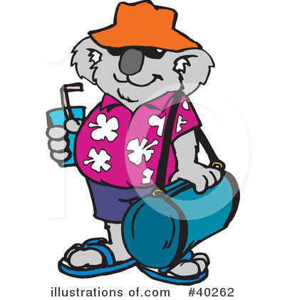 Royalty-Free (RF) Koala Clipart Illustration by Dennis Holmes Designs - Stock Sample #40262