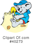 Royalty-Free (RF) koala Clipart Illustration #40273