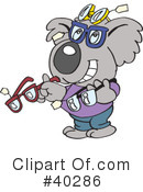 Royalty-Free (RF) koala Clipart Illustration #40286