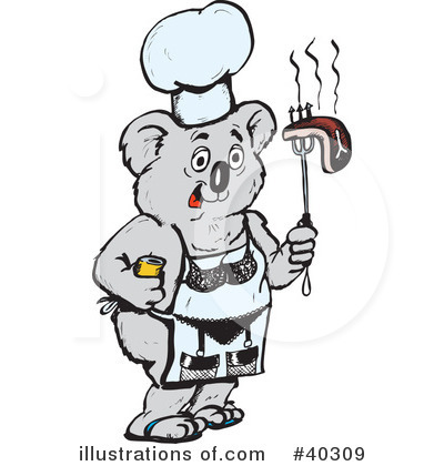 Royalty-Free (RF) Koala Clipart Illustration by Dennis Holmes Designs - Stock Sample #40309