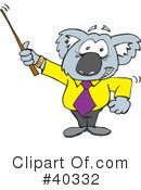 Royalty-Free (RF) koala Clipart Illustration #40332