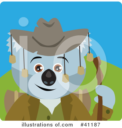 Royalty-Free (RF) Koala Clipart Illustration by Dennis Holmes Designs - Stock Sample #41187