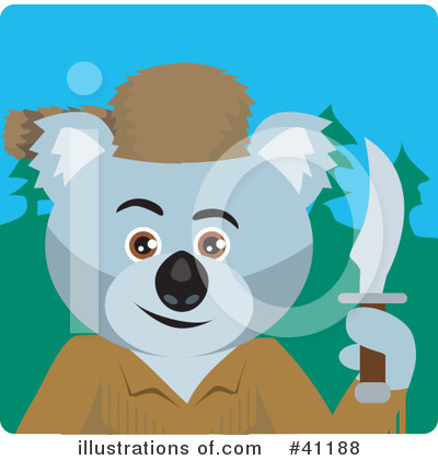 Royalty-Free (RF) Koala Clipart Illustration by Dennis Holmes Designs - Stock Sample #41188