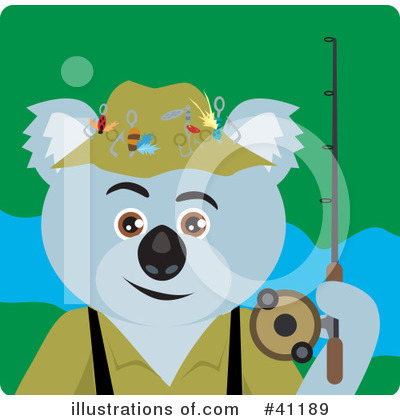 Royalty-Free (RF) Koala Clipart Illustration by Dennis Holmes Designs - Stock Sample #41189