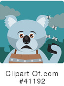 Royalty-Free (RF) Koala Clipart Illustration #41192
