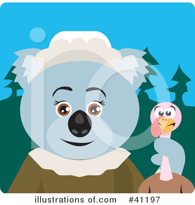 Royalty-Free (RF) Koala Clipart Illustration by Dennis Holmes Designs - Stock Sample #41197