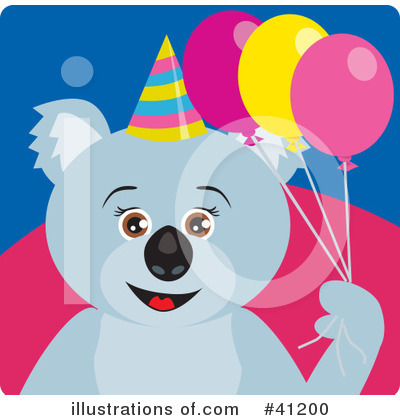 Royalty-Free (RF) Koala Clipart Illustration by Dennis Holmes Designs - Stock Sample #41200