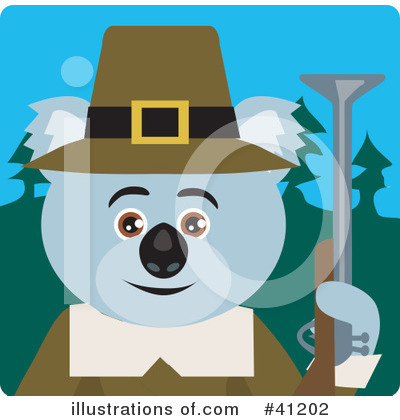 Royalty-Free (RF) Koala Clipart Illustration by Dennis Holmes Designs - Stock Sample #41202